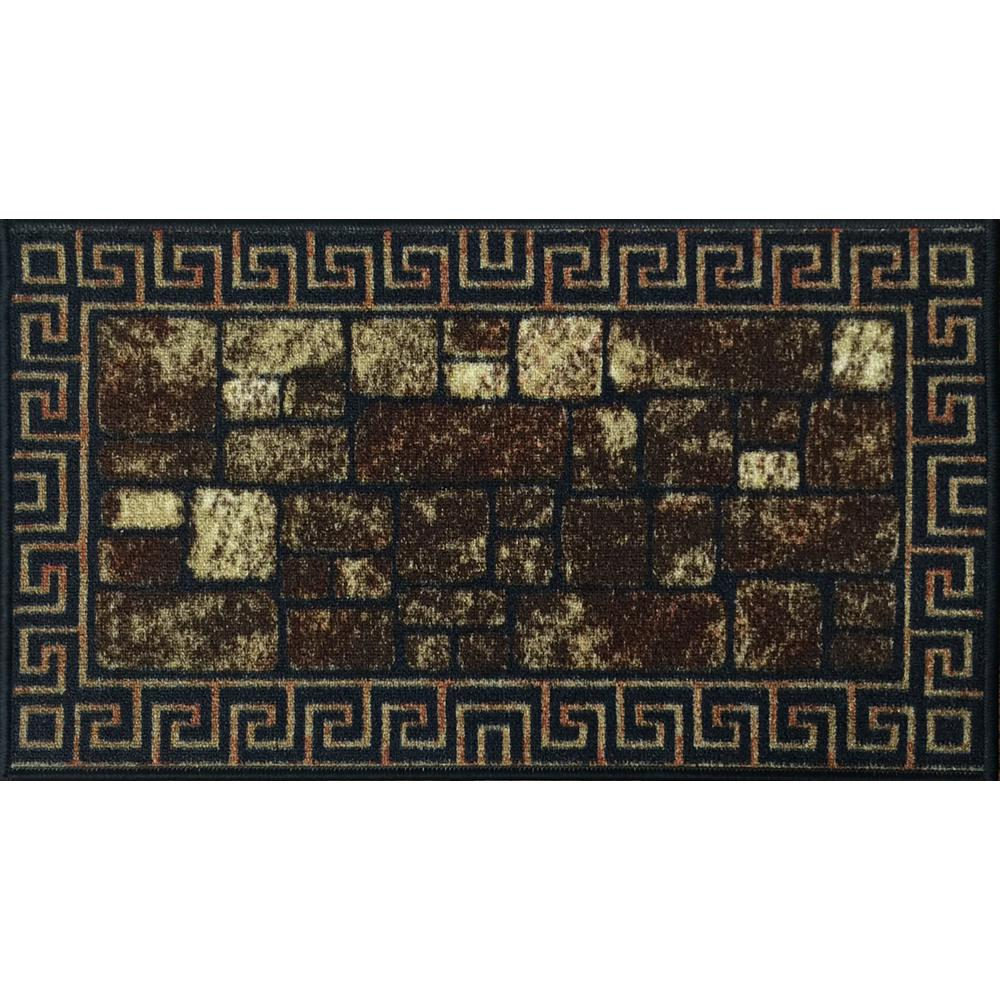 MAXY HOME Cucina Collection 20 in. x 59 in. Rubber Back Kitchen Mat