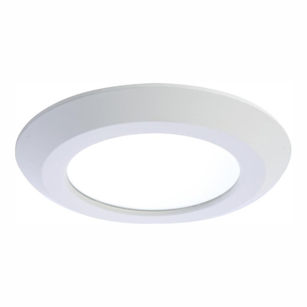 Halo 6 in. White Integrated LED Recessed Trim Downlight 90 CRI 3000K CCT