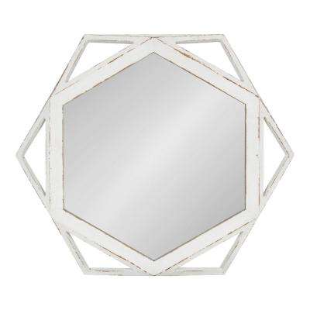 Cortland Round White Wall Mirror