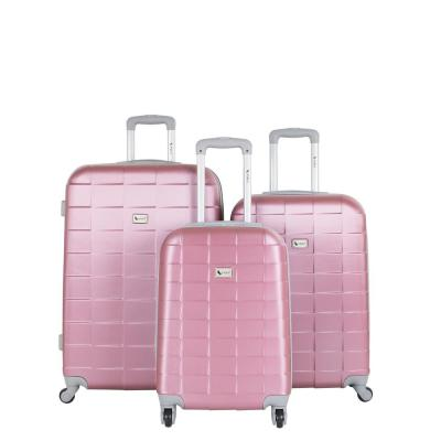 Palette Mauve 3-Piece Expandable Hardside Spinner Luggage Set