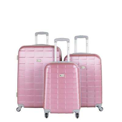 Palette Mauve 3 Piece Expandable Hardside Spinner Luggage Set