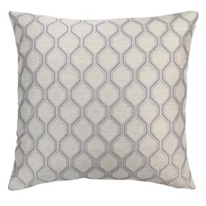 Andante Platinum Jacquard Feather And Down Standard Throw Pillow