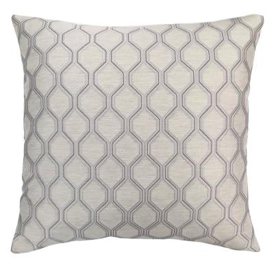 Andante Platinum Geometric Down 7 in. x 20 in. Throw Pillow