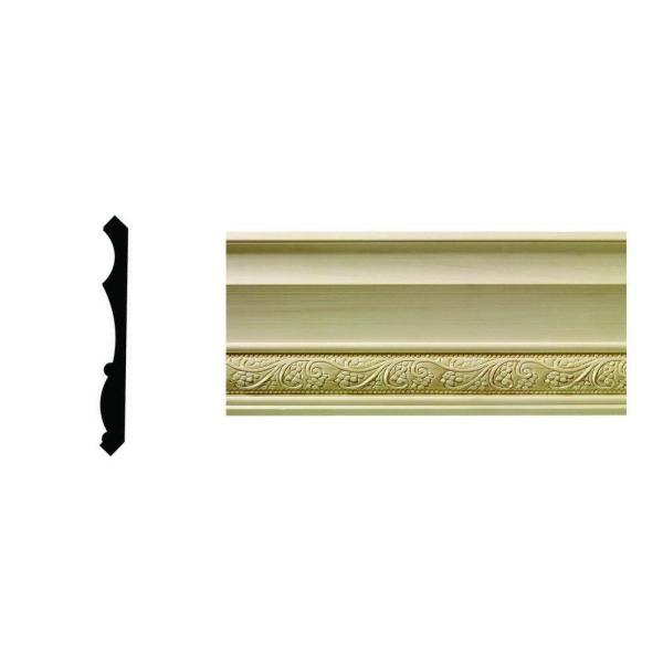 1/2 in. x 5-1/4 in. x 96 in. Hardwood White Unfinished Whimsey Crown Moulding