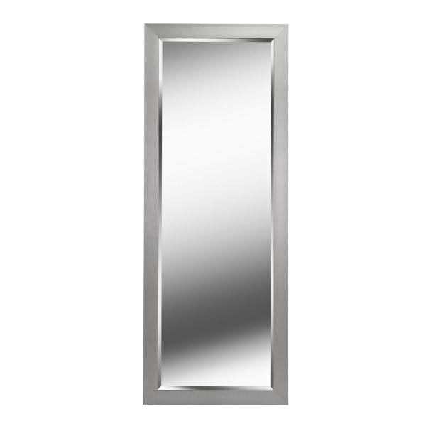 Oversized Grey Plastic Beveled Glass Classic Mirror (77.12 in. H X 29.12 in. W)