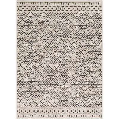 Lucillia Beige 7 ft. 10 in. x 10 ft. 3 in. Geometric Area Rug