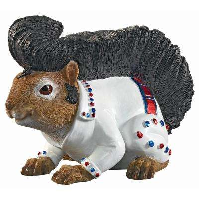 5 in. H Elmer the Rock and Roll Squirrel Garden Statue