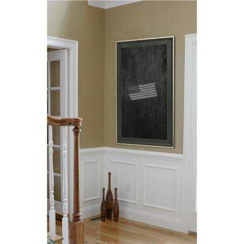 34 in. x 28 in. Vintage Black Blackboard/Chalkboard