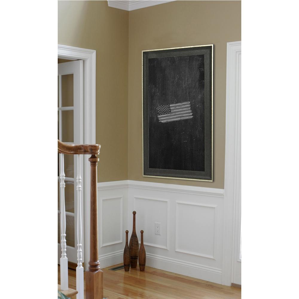 46 in. x 40 in. Vintage Black Blackboard/Chalkboard