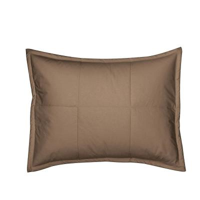 LaCrosse Mocha Solid Quilted Cotton Standard Sham