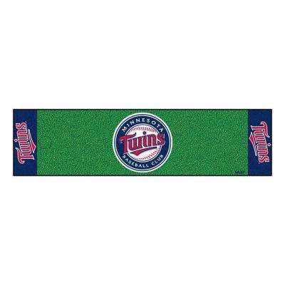 MLB Minnesota Twins 1 ft. 6 in. x 6 ft. Indoor 1-Hole Golf Practice Putting Green
