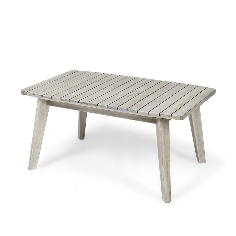 Le House Balm Weathered Grey Wood Outdoor Coffee Table