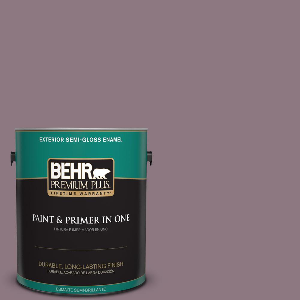 1-gal. #BNC-20 Purple Rubiate Semi-Gloss Enamel Exterior Paint