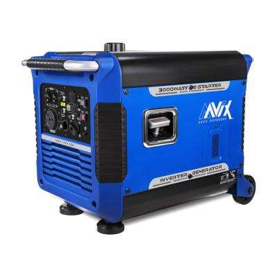 3,000-Watt Gasoline Powered Portable Digital Inverter Generator with Recoil Start and Smart Paralleling (CARB Compliant)
