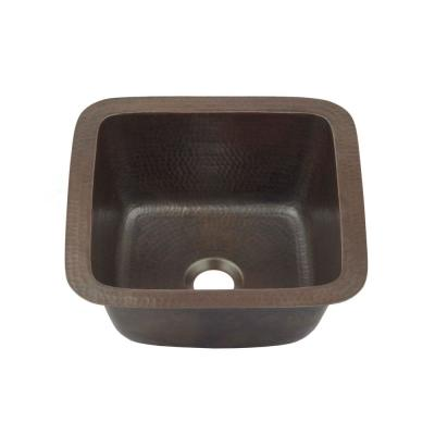 Pollock 18 Gauge Copper 12 in. Dual Mount Bar Sink