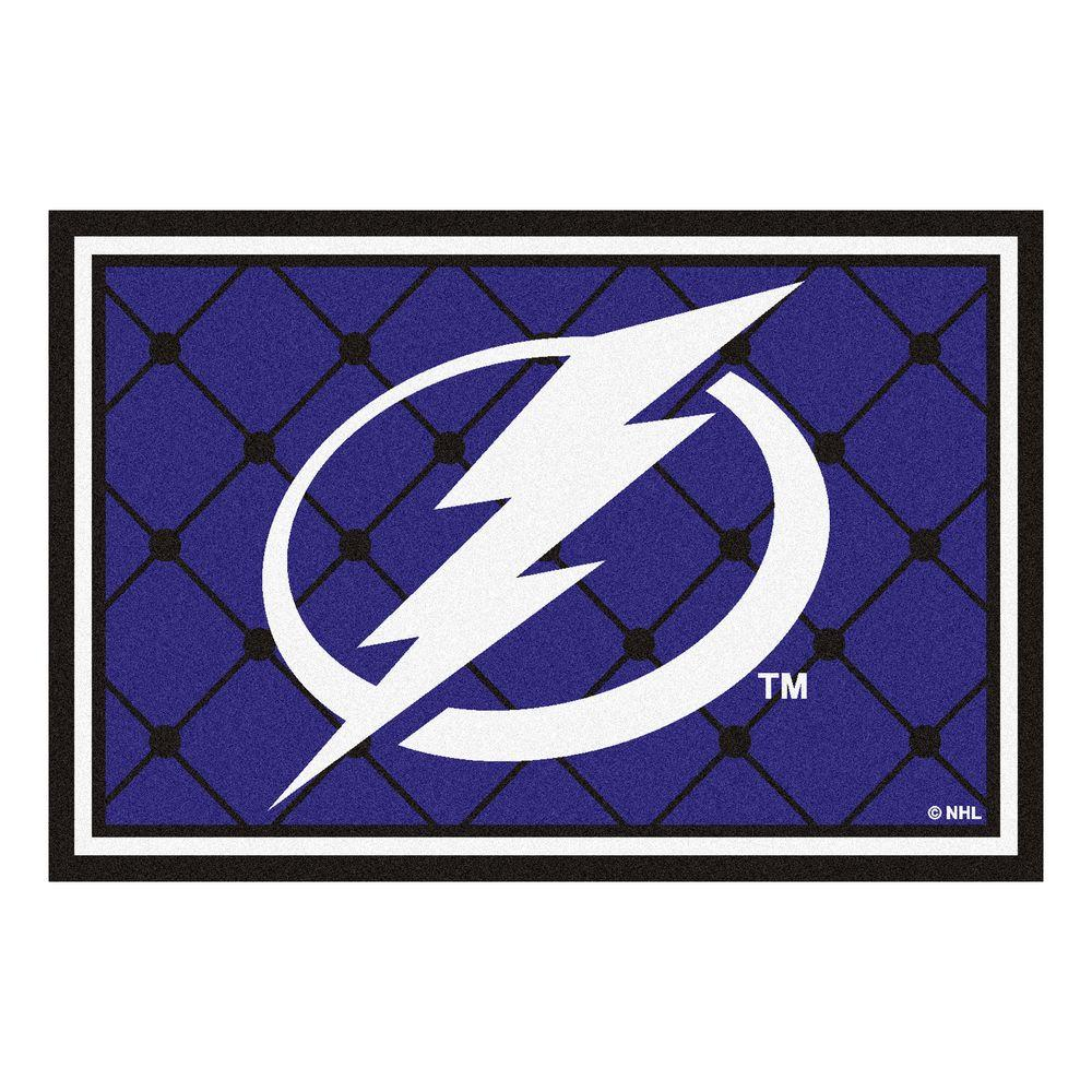Fanmats Tampa Bay Lightning 5 Ft X 8 Area Rug