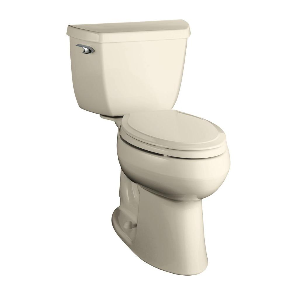 KOHLER Highline Classic Comfort Height 2-Piece 1.6 GPF Elongated Bowl Toilet with Insuliner Tank in Almond-DISCONTINUED