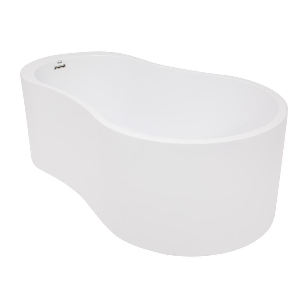 Anaha 64 in. Flatbottom Non-Whirlpool Freestanding Bathtub in White
