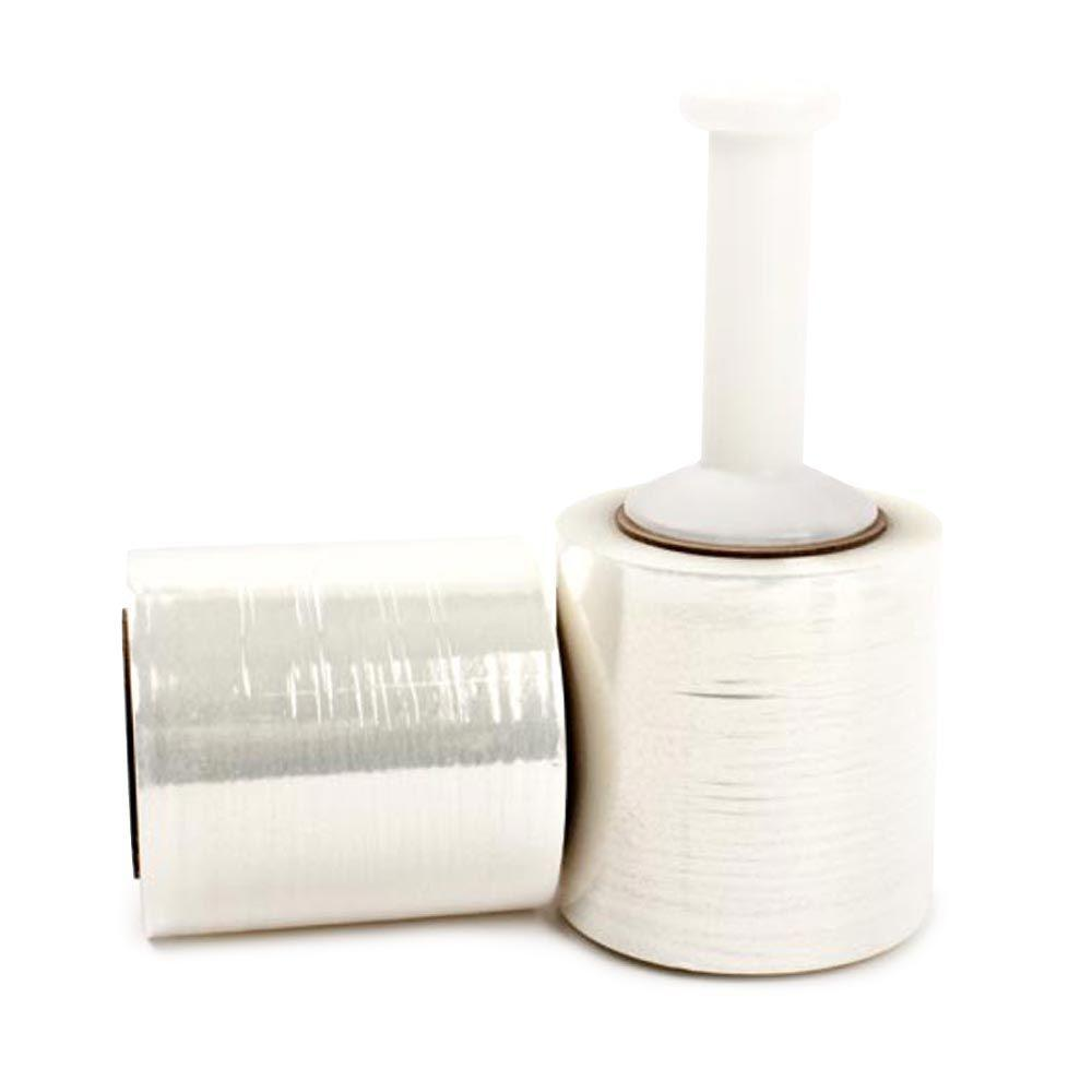 Pratt Retail Specialties 120 Gauge 5 in. x 700 ft. Bundling Cast Clear 12-Roll Bundle Stretch Wrap
