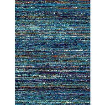 Aiza Collection Blue 5 ft. x 7 ft. Area Rug