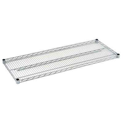 1.5 in. H x 48 in. W x 18 in. D Steel Wire Shelf in Chrome