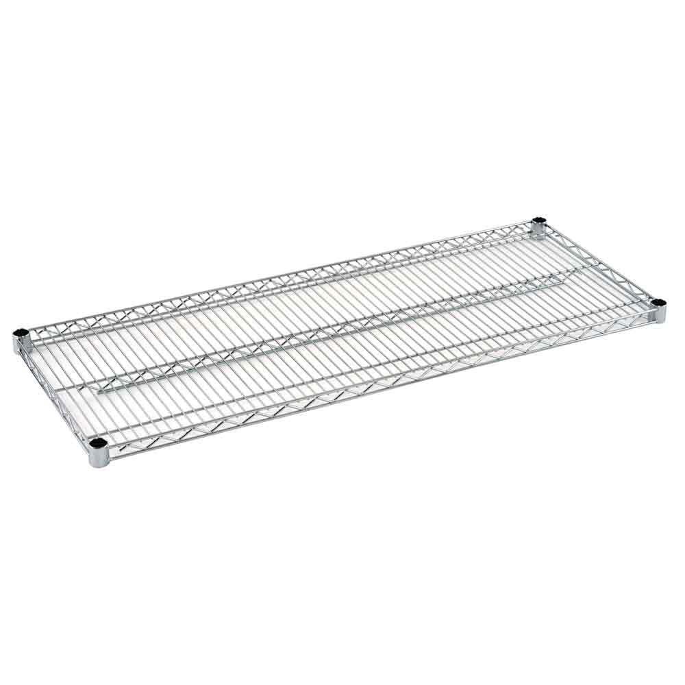 2 in. H x 48 in. W x 18 in. D Steel Wire Shelf in Chrome