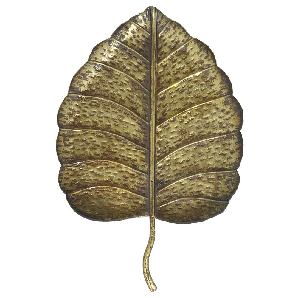 Superb Three Hands Metal Leaf Wall Art