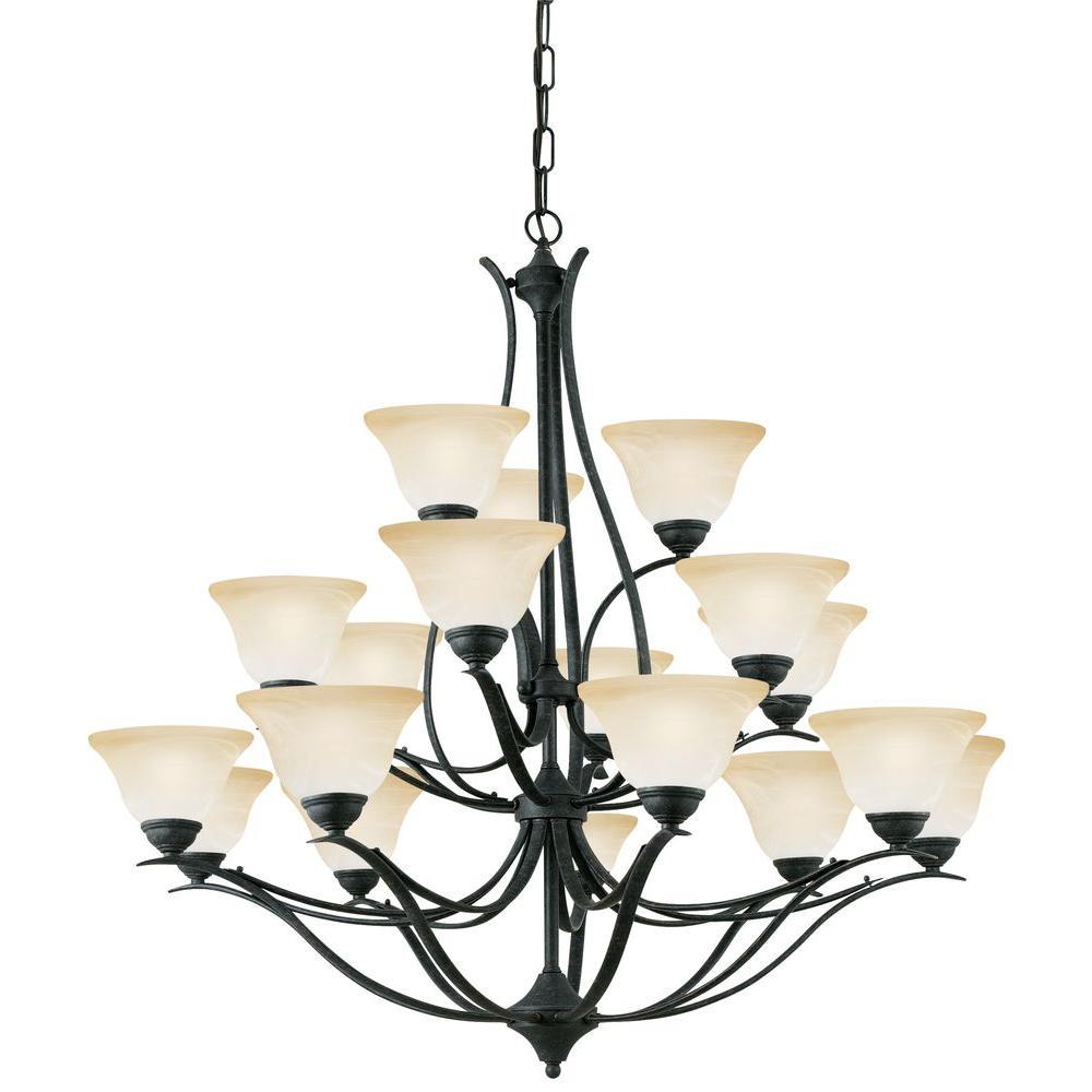 Thomas Lighting Prestige 18-Light Hanging Sable Bronze Chandelier-DISCONTINUED