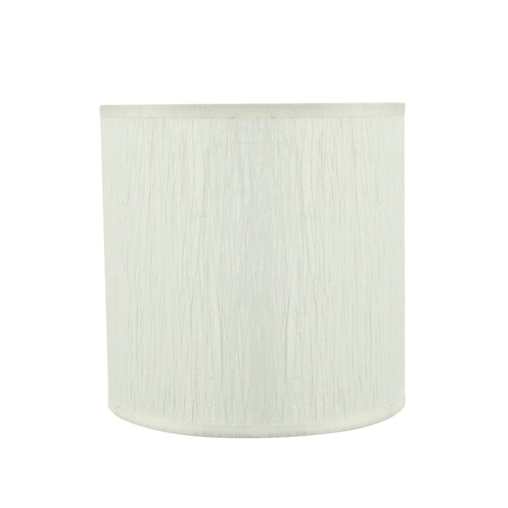 Aspen Creative Corporation 8 In X Off White Drum Cylinder Lamp
