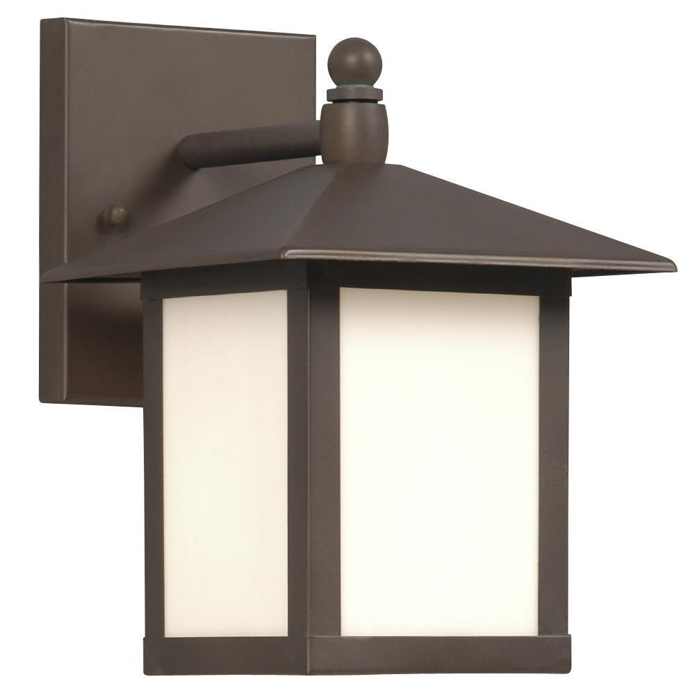 Negron 1-Light Outdoor White Wall Lantern