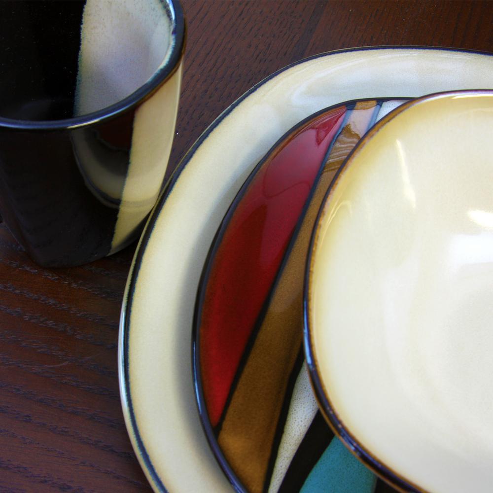 Athlea 16-Piece Casual Multicolor Stoneware Dinnerware Set (Service for 4)