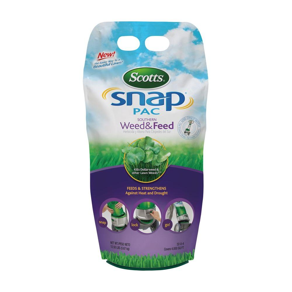 Scotts Snap Pac 12.5 lb. 4,000 sq. ft. Southern Weed and Feed Lawn Fertilizer