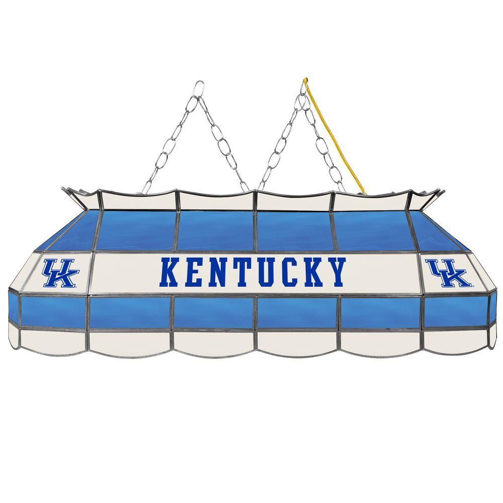 University of Kentucky 3-Light Blue Hanging Tiffany Lamp