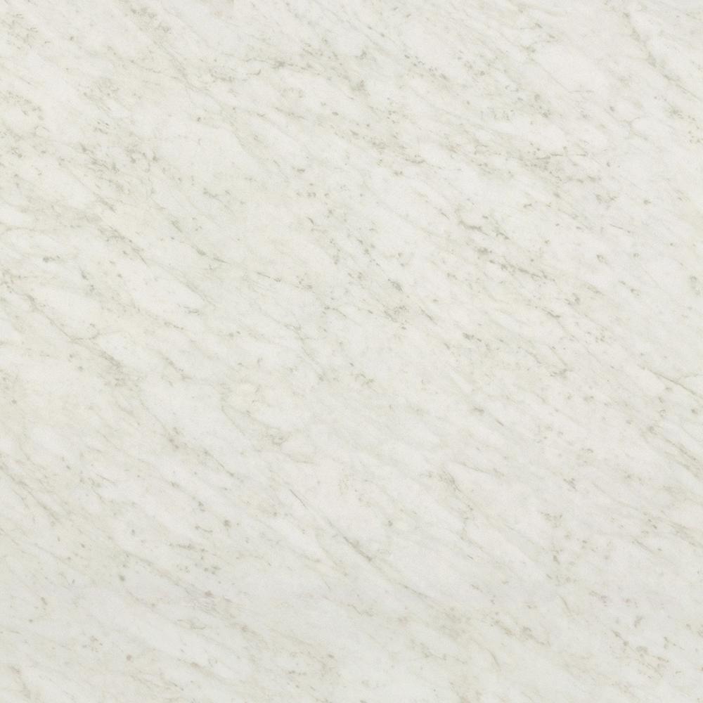 36 in. x 120 in. Laminate Sheet in White Carrara with