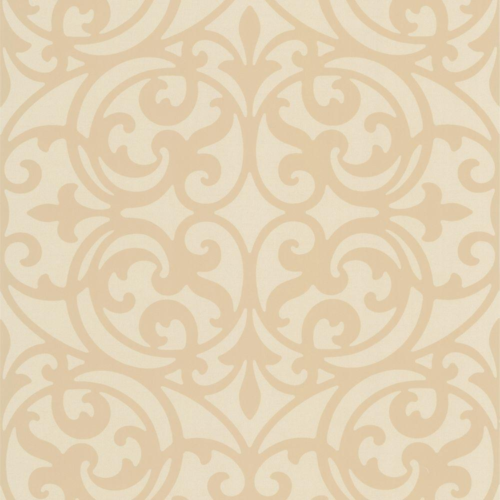 Sonata Beige Ironwork Wallpaper