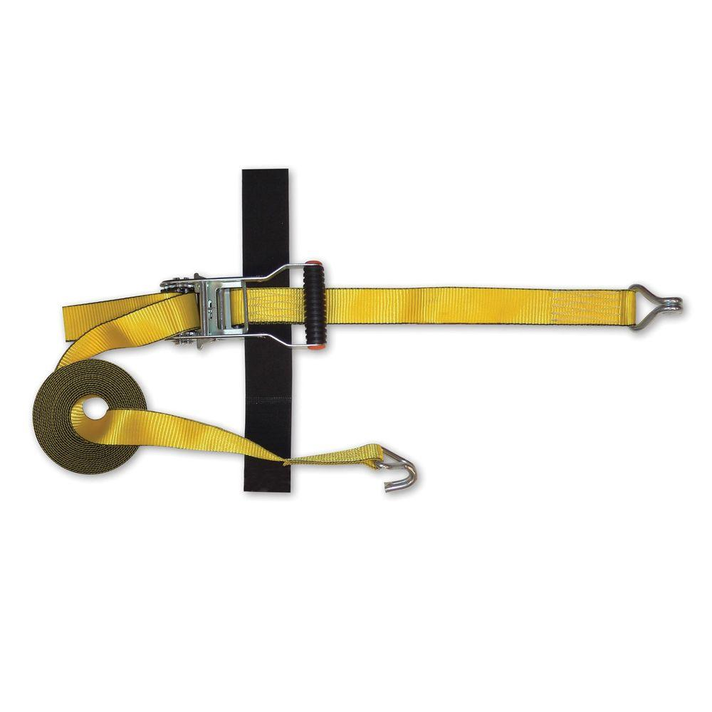 15 ft. x 1.5 in. J-Hook Strap with Anti-Theft Ratchet and