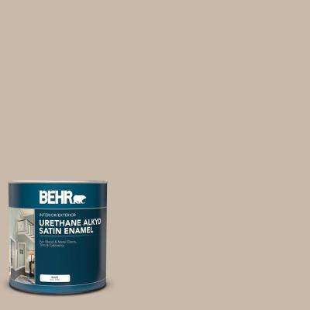 1 qt  #N230-3 Armadillo Satin Enamel Urethane Alkyd Interior/Exterior Paint