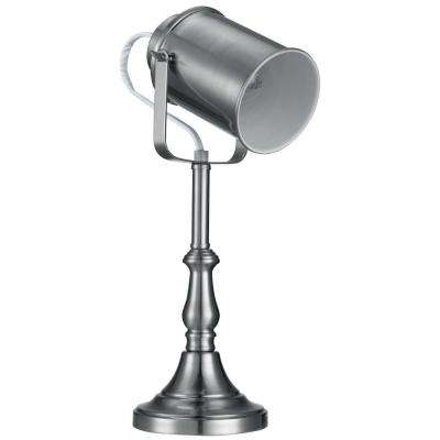 Brushed Steel Studio Table Lamp