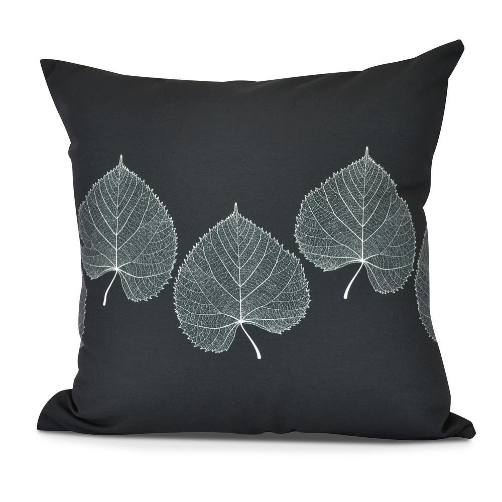 Leaf Print 2 Floral Print Decorative Pillow