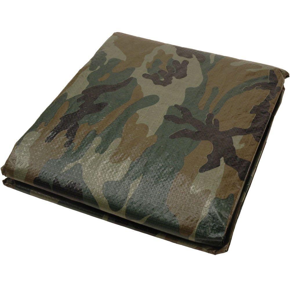 8 ft. x 10 ft. Camouflage Tarp