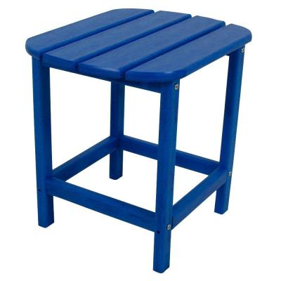 South Beach 18 in. Pacific Blue Patio Side Table