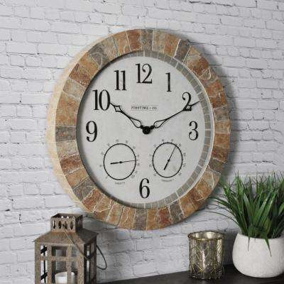 Sandstone Outdoor Clock