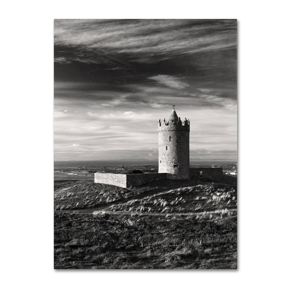 Trademark Fine Art 30 in. x 47 in. Doonagore Castle Ireland Canvas Art