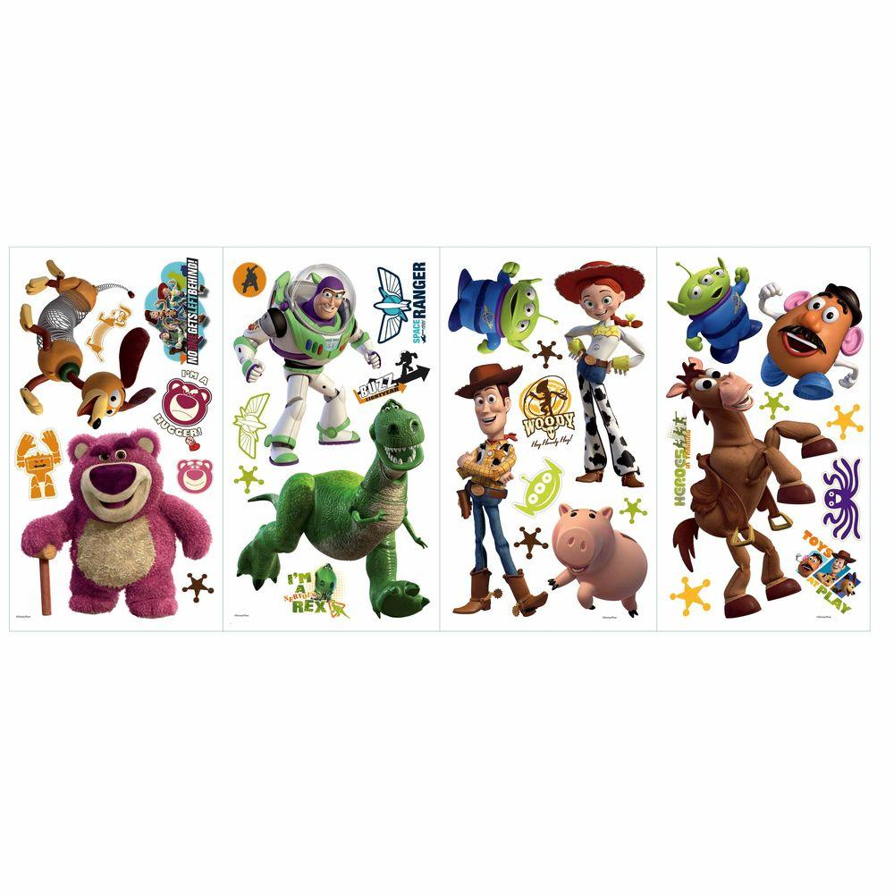 RoomMates 5 in. x 11.5 in. Toy Story 3 Peel and Stick Wall Decals (33-Piece)