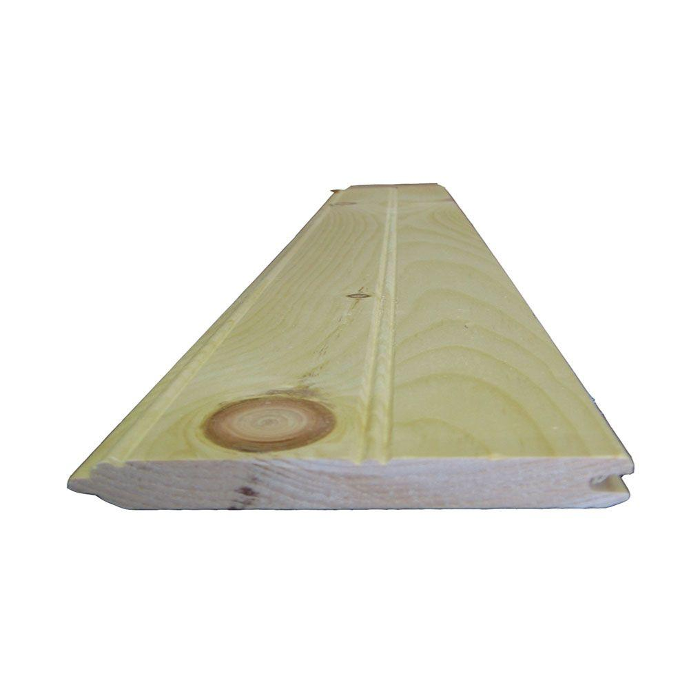 null 1 in. x 6 in. x 6 ft. #2 and Better Tongue and Groove Board