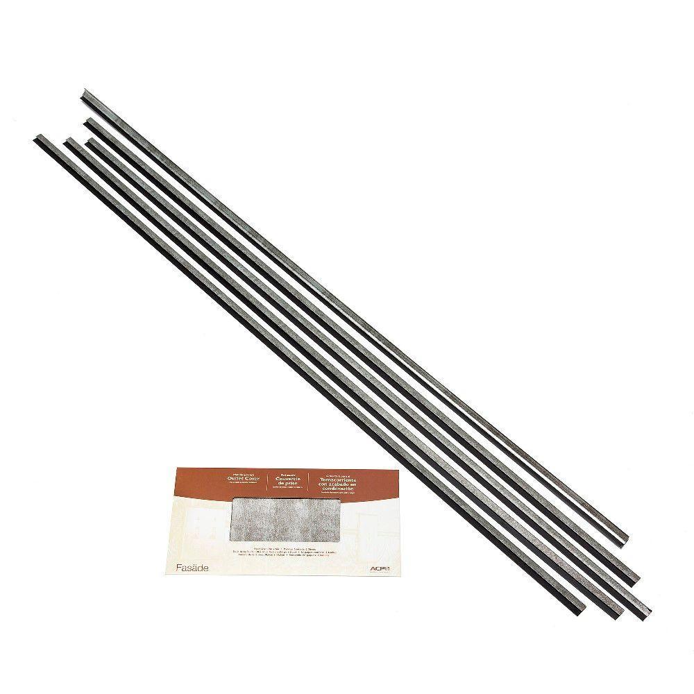 49 in. x 2.75 in. Crosshatch Silver Backsplash Accessory Kit