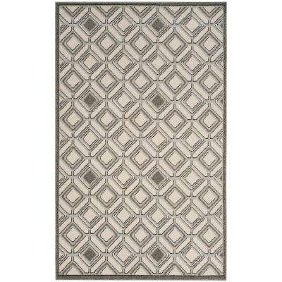 Amherst Ivory/Light Gray 5 ft. x 8 ft. Indoor/Outdoor Area Rug