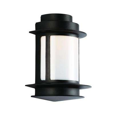 1-Light Black Outdoor Union Station Wall Lantern