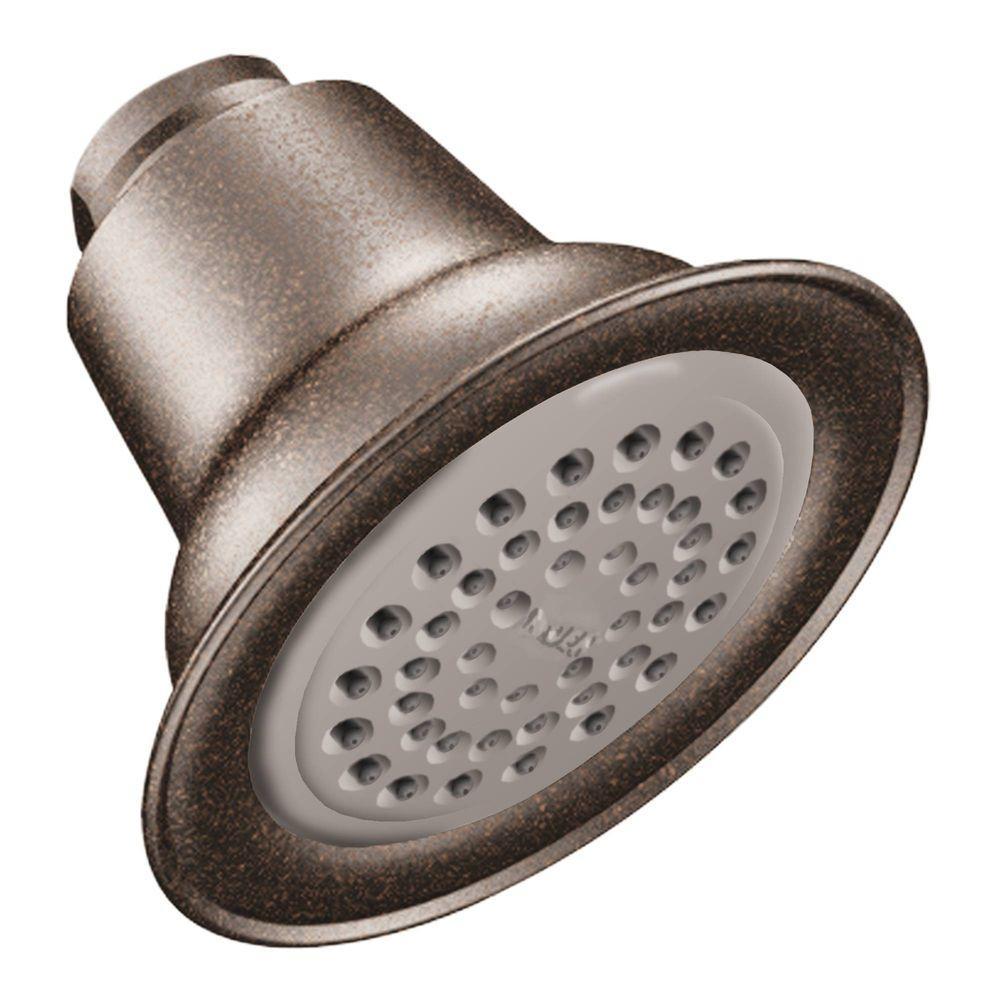 Easy Clean XLT 1-Spray 3.4 in. Single Wall Mount Fixed Shower Head in Oil Rubbed Bronze