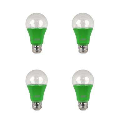 9-Watt Equivalent A19 Medium E26 Base LED Non-Dimmable Indoor and Greenhouse Full Spectrum Plant Grow Light Bulb(4-Pack)